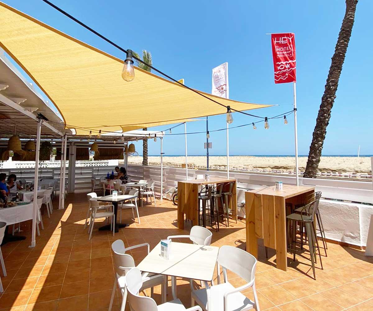 comidas-terraza-restaurante-hotel-hey-1-hotel en Peñíscola